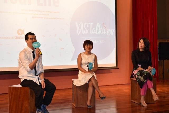 Nhà thiết kế Chương Đặng và doanh nhân Diệp Nguyễn chia sẻ tại chương trình.