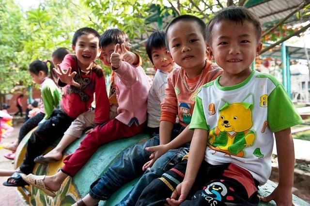 Mục tiêu của sự hợp tác giữa Amway và Làng Trẻ Em SOS lần này là tạo ra một môi trường phát triển toàn diện cho trẻ trên nền tảng của sự yêu thương và sẻ chia - Ảnh: Amway VN