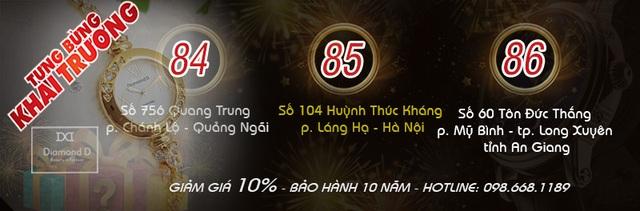 Đăng Quang Watch đồng loạt khai trương 3 của hàng mới tại: Quảng Ngãi,  Hà Nội, An Giang - 1