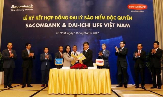 """Cái bắt tay """"lịch sử"""" giữa Dai-ichi Life Việt Nam và Sacombank - 1"""