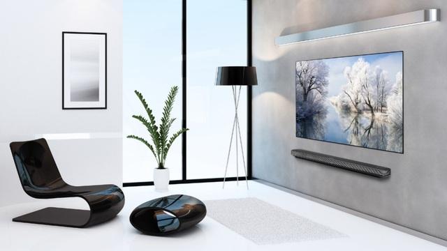 TV OLED siêu mỏng dán tường của LG.