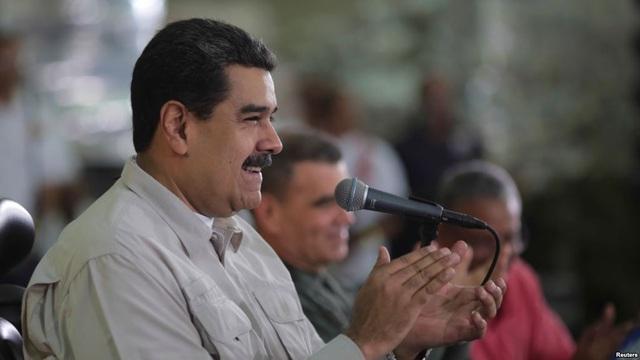 Tổng thống Venezuela, ông Nicolas Maduro tham dự một sự kiện với người lao động ở Thủ đô Caracas vào hôm qua (14/11). Ảnh: VOA
