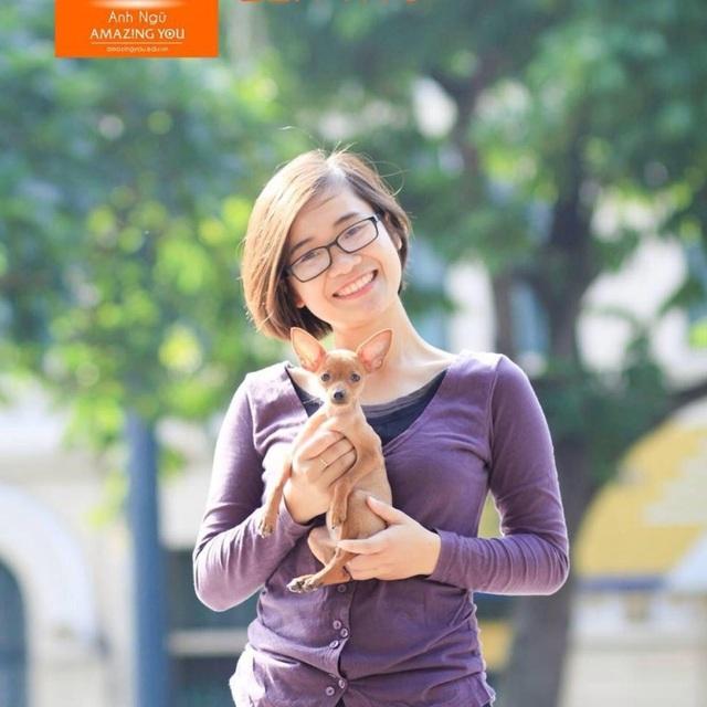 Cô giáo trẻ 9x Quỳnh Nguyễn - cựu sinh viên khoa Khách sạn du lịch trường ĐH Thương mại với niềm đam mê giảng dạy ngoại ngữ.