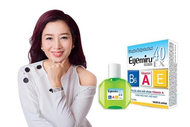 Thuốc nhỏ mắt có chứa vitamin A Eyemiru 40EX giúp đôi mắt sáng khỏe