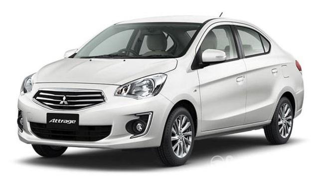Mẫu sedan giá rẻ Attrage có mức giảm ít nhất.