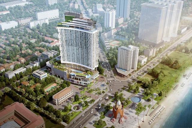 A&B Central Square (địa chỉ: 44 Trần Phú, Nha Trang) tọa lạc giữa ba mặt tiền đường Trần Phú, Lê Thánh Tôn, Hùng Vương, trực diện với Quảng trường, tháp Trầm Hương.