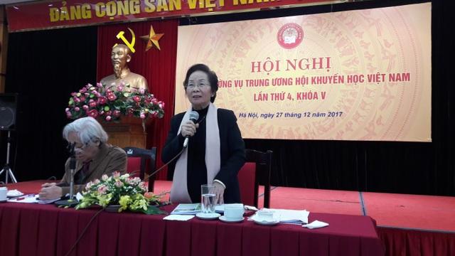 GS.TS Nguyễn Thị Doan, Chủ tịch Hội Khuyến học phát biểu