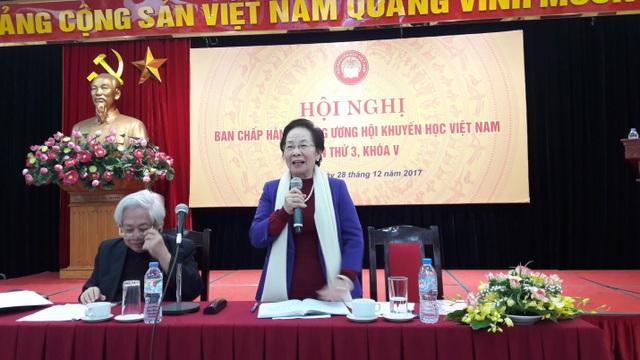 GS.TS Nguyễn Thị Doan, Chủ tịch Hội Khuyến học, chủ trì phiên làm việc của Hội nghị.