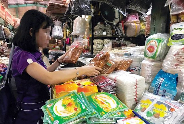Ớt bột tại chợ ở TPHCM.