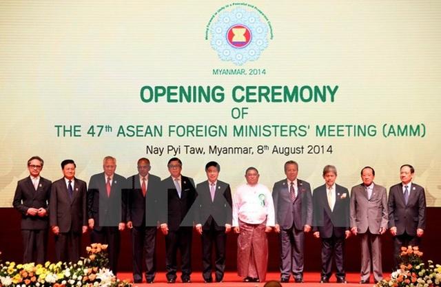 Hội nghị Bộ trưởng Ngoại giao ASEAN lần thứ 47 tại Thủ đô Nay Pyi Taw (Myanmar), ngày 8/8/2014. (Ảnh: Tư liệu TTXVN)
