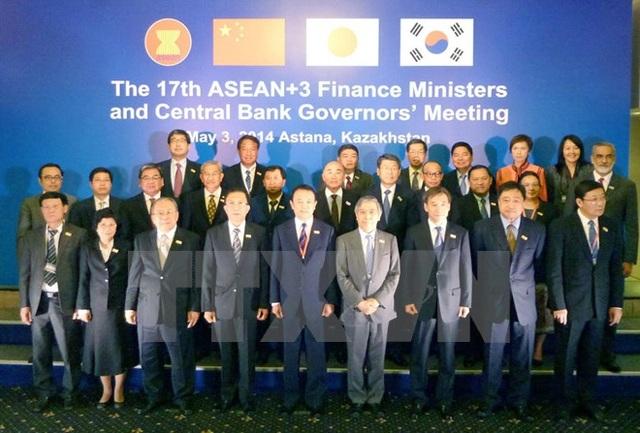 Hội nghị Bộ trưởng Tài chính và Thống đốc Ngân hàng Trung ương ASEAN+3 (Trung Quốc, Nhật Bản và Hàn Quốc) tổ chức tại Thủ đô Astana (Kazakhstan), ngày 3/5/2014. (Ảnh: Tư liệu TTXVN)