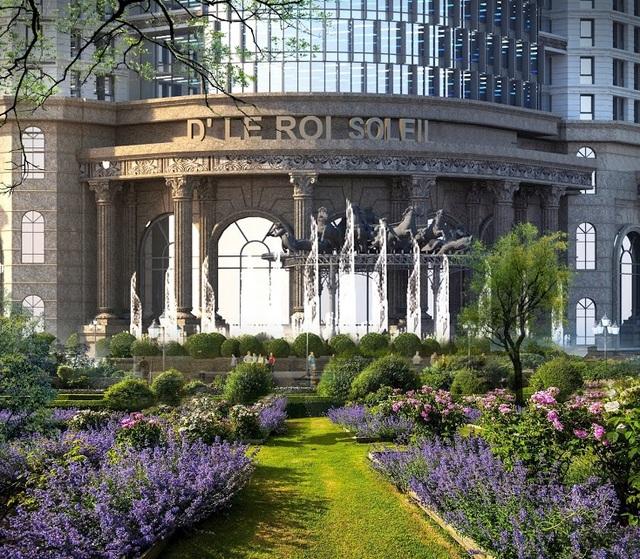 Cảnh quan xanh tại D'. Le Roi Soleil Quảng An