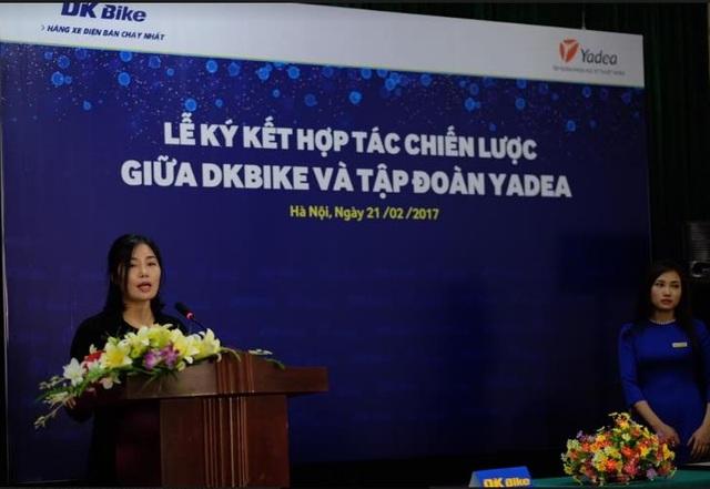 Bà Chu Hiểu Hà chia sẻ tại buổi họp báo.
