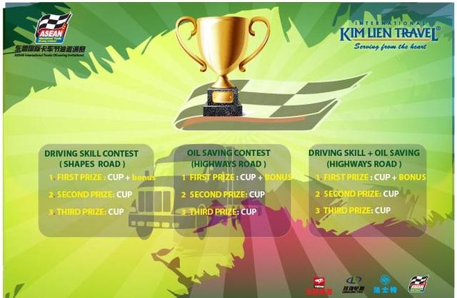 Hình ảnh cup giải xe tải thi hình - khách mời quốc tế Asean 2017