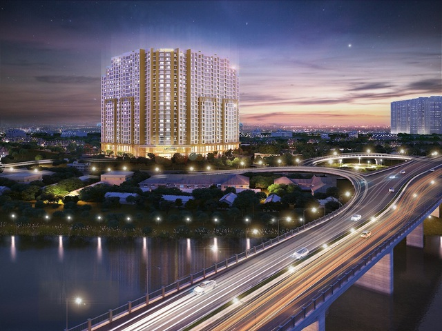 Phần lớn các căn hộ tại T&T Riverview nhìn trực diện ra sông Hồng