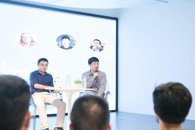 Ông Trần Việt Hùng (Nhà sáng lập Got it!) cùng ông Phạm Minh Tuấn (CEO Tổ hợp công nghệ giáo dục trực tuyến TOPICA) chia sẻ về kinh nghiệm phát triển và điều hành các startup tại talkshow.
