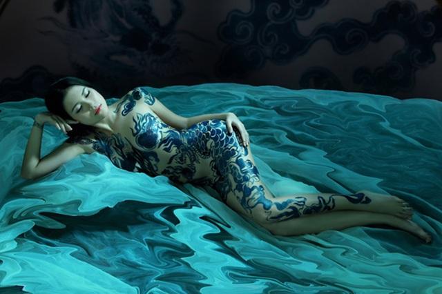 Đã mắt với những bức tranh tuyệt đẹp trên cơ thể thiếu nữ Việt - 3