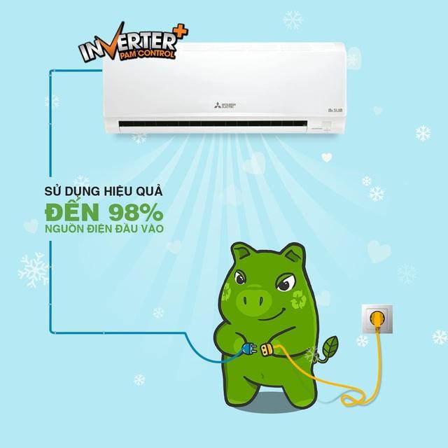 Công nghệ PAM Inverter cho điều hòa Mitsubishi Electric tiết kiệm điện hiệu quả