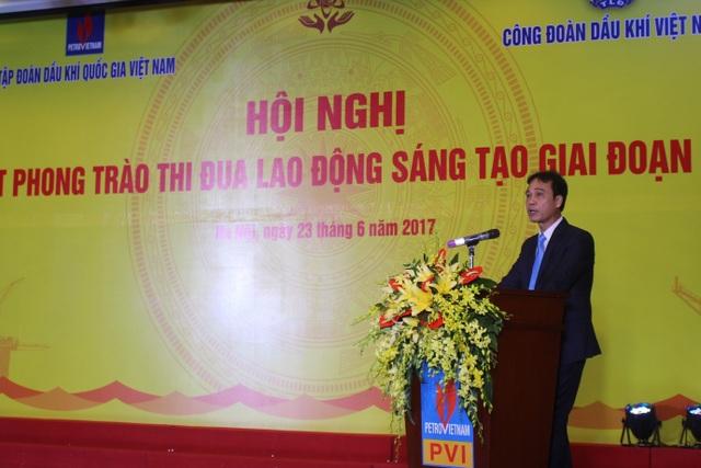 Ông Nguyễn Quỳnh Lâm, Phó Tổng Giám đốc, Chủ tịch Hội đồng Khoa học Công nghệ, Chủ tịch Hội đồng Sáng kiến Tập đoàn Dầu khí Việt Nam. (Ảnh: Hồng Vân)
