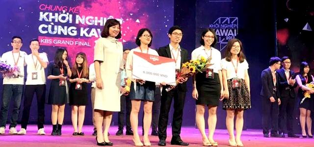 Sinh viên Ngoại thương đạt giải cao trong chương trình khởi nghiệp Kawai