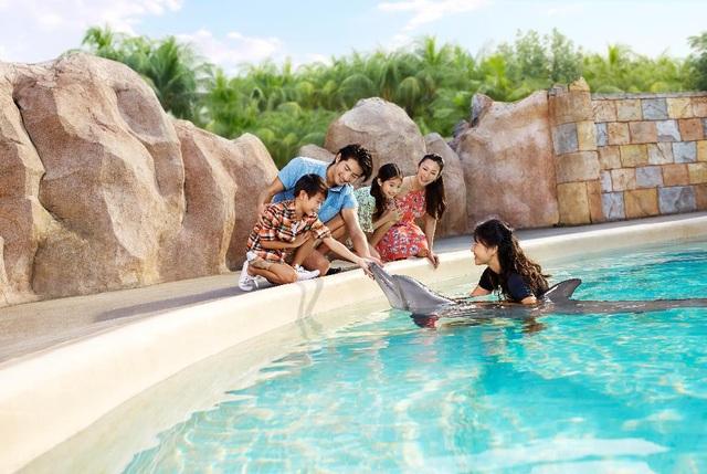 """Cả gia đình có thể chọn lựa chương trình tham quan với chi phí khác nhau. Trong đó chương trình """"Gặp gỡ Cá heo"""" (Dolphin Encounter) được thiết kế phù hợp cho tất cả các thành viên."""