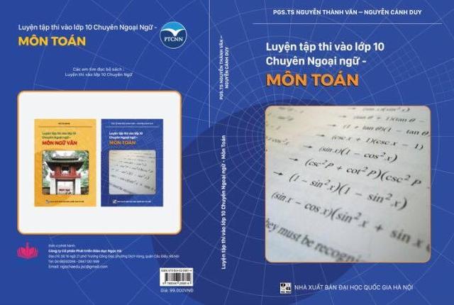 Bìa cuốn sách Luyện thi vào lớp 10 Chuyên Ngoại Ngữ- Môn Toán