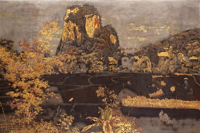 """Tác phẩm sơn mài La Moyenne Région"""" - Mức giá dự kiến chỉ vào khoảng 36.107 - 46.423 USD, nhưng kết quả bán được là: 595.771 USD."""