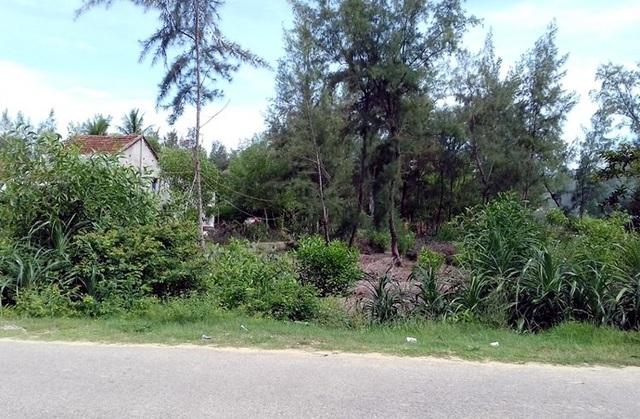 Lô đất 750m2 của bà Tuyển đã bán cho bà V. gần biển Tam Thanh.