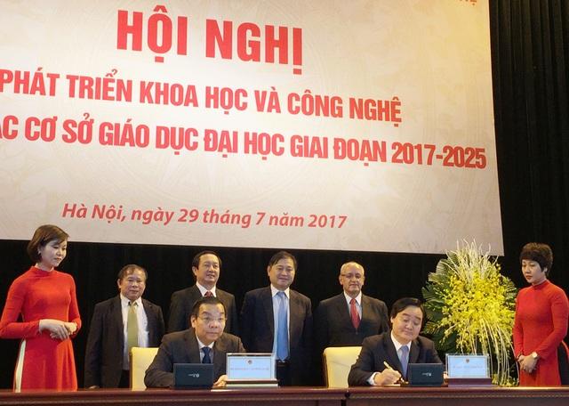 Lễ ký kết được xem là dấu mốc quan trọng trong hợp tác giữa hai Bộ nhằm đẩy mạnh, phát triển hoạt động KHCN trong giáo dục đào tạo.