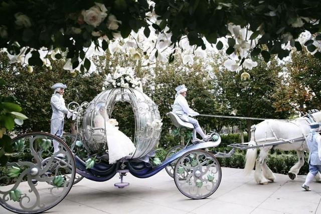 Chiếc xe ngựa bí ngô sa hoa trong đám cưới của cặp đôi