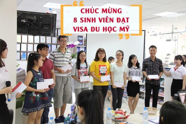 8 Sinh viên New World Education đạt Visa du học Mỹ lên chia sẻ phỏng vấn ngày 15/07/2017