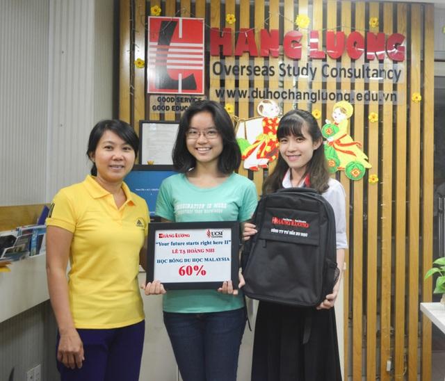 Học sinh Lê Tạ Hoàng Nhi – nhận được học bổng 60% học phí