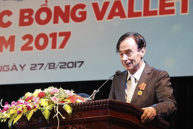 GS. Odon Vallet phát biểu trong Lễ trao học bổng Odon Vallet.