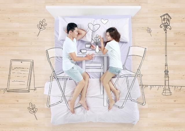 Một chiếc nệm êm ái giúp đôi lứa đắm chìm vào những cảm xúc thăng hoa nhất của tình yêu.