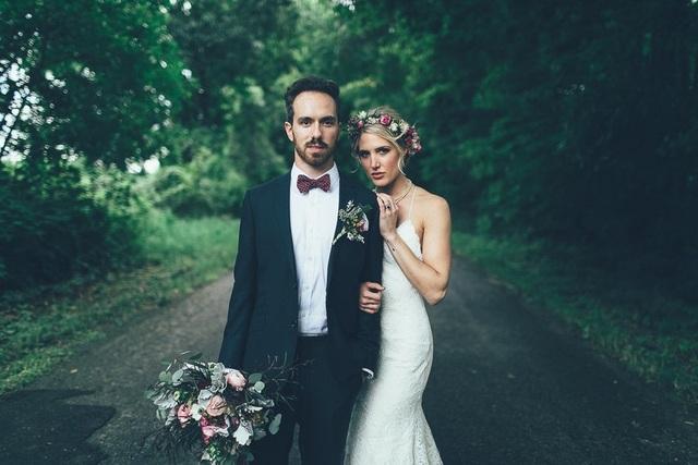 Hình ảnh của cặp đôi trong ngày cưới