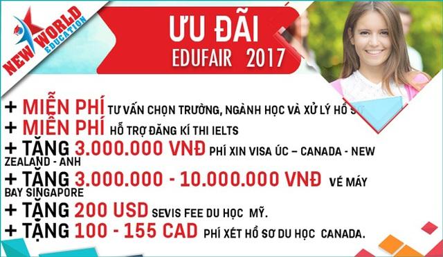 Edufair - Chắp cánh ước mơ du học Mỹ, Canada, Úc, New Zealand, Anh, Singapore và Philippines 2017-2018 - 2