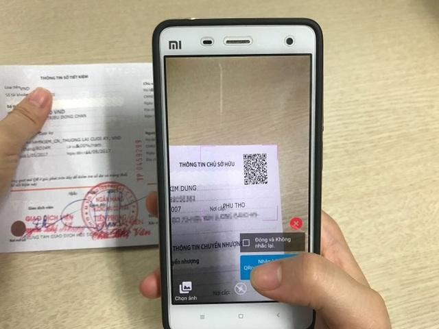 Kiểm tra tiền gửi tại ngân hàng bằng QR code - 2