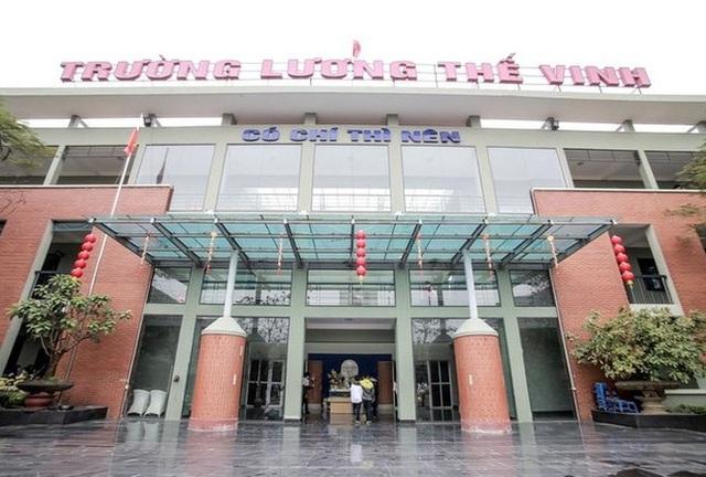 Trường THPT Lương Thế Vinh vừa ban hành nội quy chặt chẽ. (Ảnh: website trường)