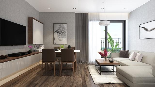 Phòng ngủ hoàn thiện nội thất hiện đại, khách hàng chỉ việc xách vali vào ở
