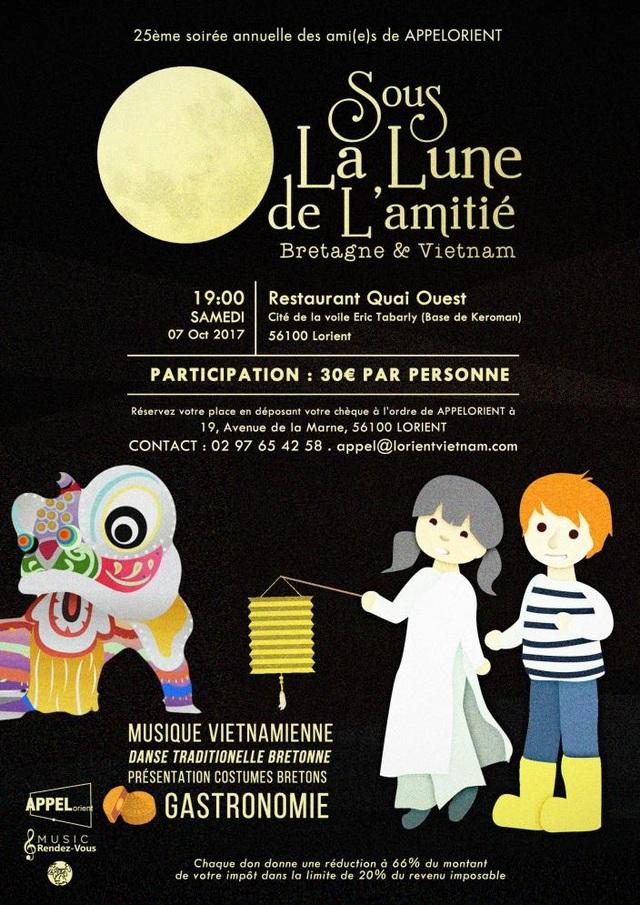 Áp phích của chương trình được thiết kế bởi bạn Bùi Phương Thảo – du học sinh tại Rennes