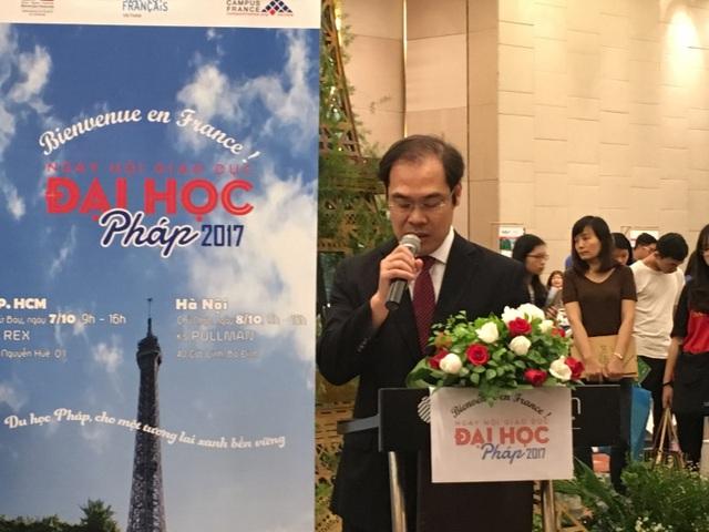 Ông Nguyễn Hải Thanh- Phó cục trưởng Cục Đào tạo với nước ngoài phát biểu tại sự kiện.