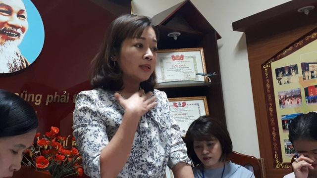 Phụ huynh Nguyễn Thị Thủy.