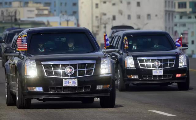 Hai chiếc xe Quái thú của Tổng thống Mỹ (Ảnh: Getty)