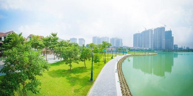 Hồ An Bình một điểm nhấn nổi bật về cảnh quan và môi trường sống tại dự án