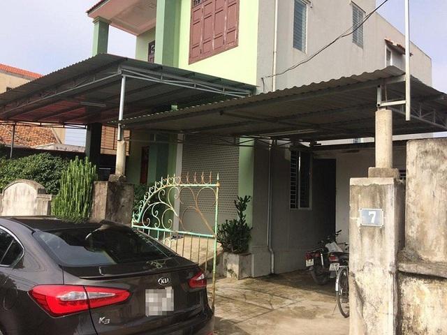 Căn nhà của gia đình nạn nhân Dũng tại phường Đức Ninh Đông, TP Đồng Hới