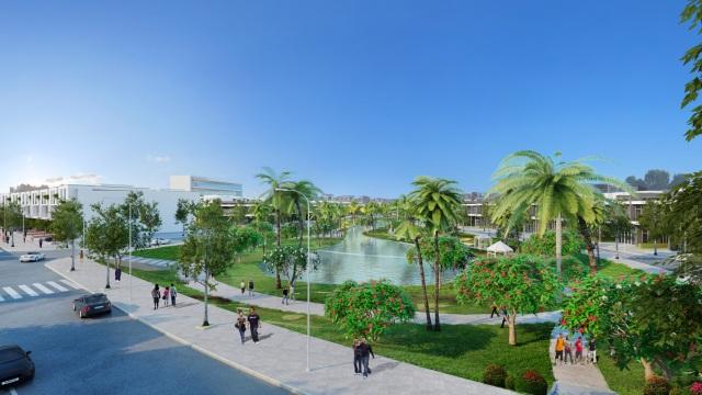 Hồ cảnh quan dự án Bảo Lộc Capital