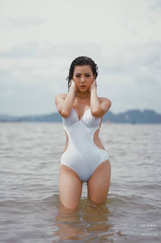 Ngoài tập gym, nữ diễn viên còn thích đi bơi.