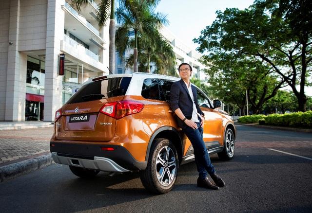 """Phong cách sống của Tuấn được thể hiện qua """"người bạn đồng hành"""" - chiếc Suzuki Vitara cá tính, mạnh mẽ và sẵn sàng chinh phục mọi thử thách"""