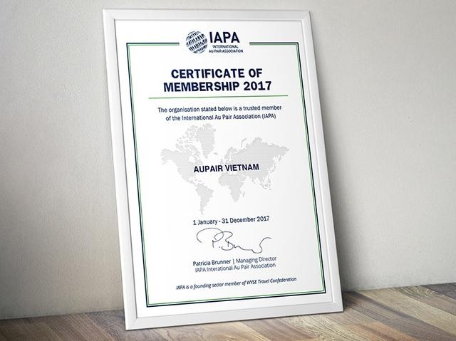 Tổ chức Aupair Vietnam chính thức trở thành thành viên của Hiệp hội Au Pair Quốc tế (IAPA)