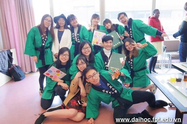 Sinh viên ngành Ngôn ngữ Nhật, Đại học FPT trong thời gian du học tại Đại học Rissho Nhật Bản.